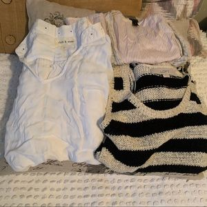 Bundle of Cloth and Stone, Loft, and J. crew